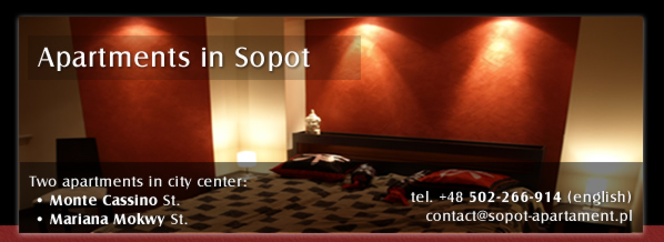 Luxury apartment for rent - Mariana Mokwy Street, Sopot